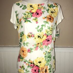 Charter club floral tee